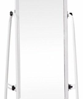Tempo Kondela Zrcadlo na kolečkách DUMAS - bílá + kupón KONDELA10 na okamžitou slevu 3% (kupón uplatníte v košíku)