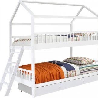 Tempo Kondela Patrová postel EVALIA 90x200 - bílá + kupón KONDELA10 na okamžitou slevu 3% (kupón uplatníte v košíku)