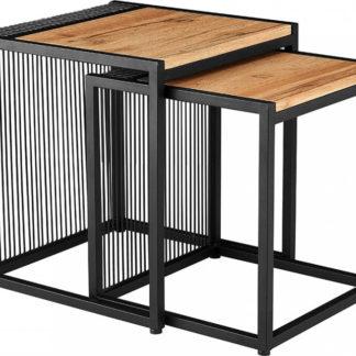 Tempo Kondela Set dvou konferenčních stolků RIMBO - dub/černý + kupón KONDELA10 na okamžitou slevu 3% (kupón uplatníte v košíku)