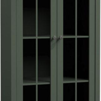 Tempo Kondela Vitrína PROVANCE W2S - zelená + kupón KONDELA10 na okamžitou slevu 3% (kupón uplatníte v košíku)