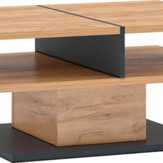 Tempo Kondela Konferenční stolek FIDEL T - dub craft zlatý/grafit šedá + kupón KONDELA10 na okamžitou slevu 3% (kupón uplatníte v košíku)