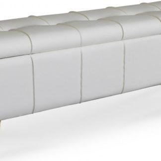 Halmar Taburet/lavice s úložným prostorem MASSIMO - bílý