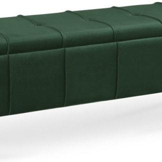 Halmar Taburet/lavice s úložným prostorem MASSIMO - tmavě zelený