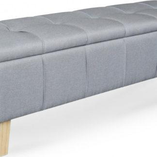 Halmar Taburet/lavice s úložným prostorem MASSIMO - šedý