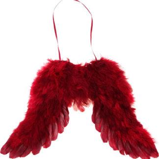 Autronic Andělská křídla z peří - červená AK1907-RED