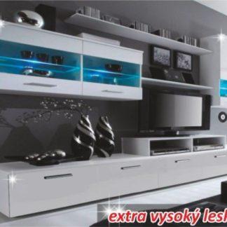 Tempo Kondela Obývací stěna LEO - bílá + kupón KONDELA10 na okamžitou slevu 3% (kupón uplatníte v košíku)