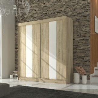 Velká světlá skříň 210 cm dekor dub sonoma