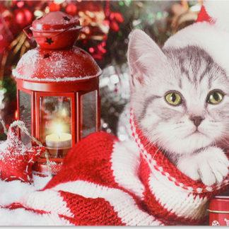 Autronic Svítící vánoční obraz BD660