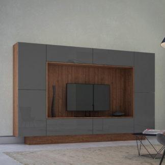 Casarredo Obývací stěna NOX ořech/grafit lesk