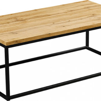 Tempo Kondela Konferenční stolek BORMO - světlý dub/černá + kupón KONDELA10 na okamžitou slevu 3% (kupón uplatníte v košíku)