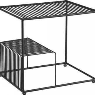 Tempo Kondela Příruční stolek WILOV - černá/kov + kupón KONDELA10 na okamžitou slevu 3% (kupón uplatníte v košíku)