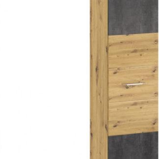 Tempo Kondela Policová skříň ERIDAN V - dub artisan/šedý beton + kupón KONDELA10 na okamžitou slevu 3% (kupón uplatníte v košíku)