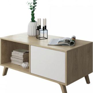Tempo Kondela Konferenční stolek LAND - dub puccini/bílá + kupón KONDELA10 na okamžitou slevu 3% (kupón uplatníte v košíku)