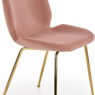 Halmar Jídelní židle K381 - růžová/zlatá