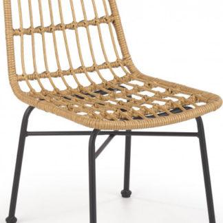 Halmar Židle K401 - umělý ratan/černá