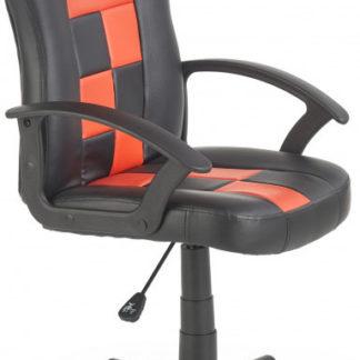 Halmar Dětská židle STORM - černá/červená