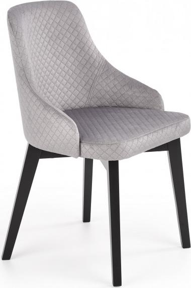 Halmar Jídelní židle Toledo 3 - černá/Monolith 85