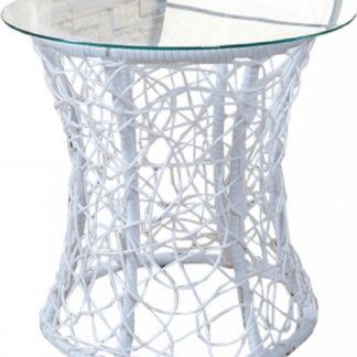 Tempo Kondela Příruční stolek SALMAR NEW - bílý + kupón KONDELA10 na okamžitou slevu 3% (kupón uplatníte v košíku)
