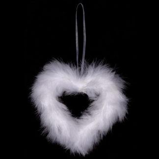 Autronic Bílé srdce z peří AK1900-WH