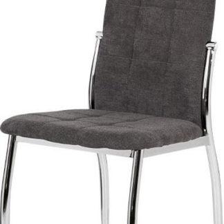 Autronic Jídelní židle DCL-213 GREY2 šedá látka