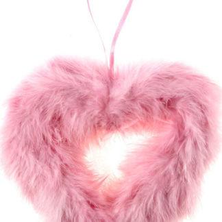 Autronic Růžové srdce z peří AK1900-PINK