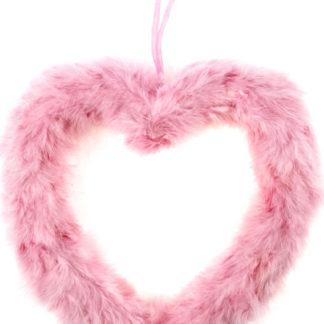 Autronic Růžové srdce z peří AK1902-PINK
