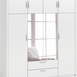 Idea Skříň 4dveřová PLUTON perleťově bílá