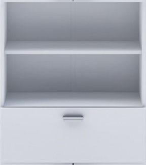 Idea Vysoká skříňka 4 dveře + 1 zásuvka KORAL bílá