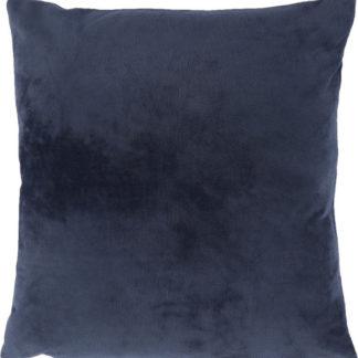 Tempo Kondela Polštář Olaja TYP 6 - samet tmavě modrý + kupón KONDELA10 na okamžitou slevu 3% (kupón uplatníte v košíku)