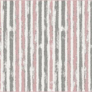 Tempo Kondela Koberec KARAN 67x - růžová/šedá/bílá + kupón KONDELA10 na okamžitou slevu 3% (kupón uplatníte v košíku)