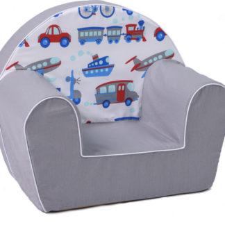 Fimex Dětské křesílko dopravní prostředky - šedé