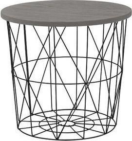 Halmar Odkládací stolek Mariffa - deska šedá/podnož černá
