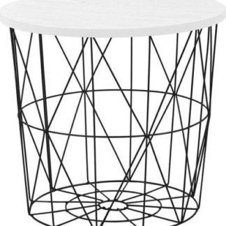 Halmar Odkládací stolek Mariffa - deska bílá/podnož černá