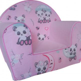 Fimex Dětské křesílko Panda růžová DKFI0409