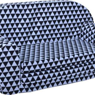 Fimex Dětská rozkládací mini pohovka - trojúhelníky DPFI0201