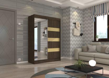 Zrcadlová skříň s posuvnými dveřmi wenge 150 cm Palma