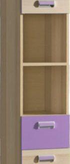 Tempo Kondela Vitrína EGO L3 - fialová + kupón KONDELA10 na okamžitou slevu 3% (kupón uplatníte v košíku)