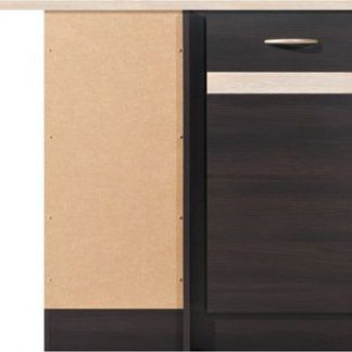 BRW Kuchyňská skříňka rohová Junona Line DNW/100/82L dvířka Bílý lesk+šedý wolfram/korpus wenge