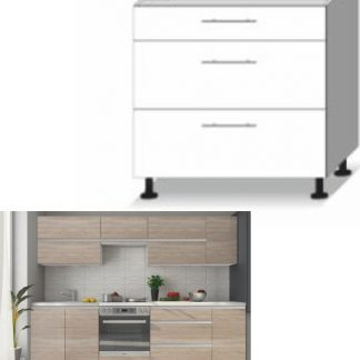 Tempo Kondela Kuchyňská skříňka LINE SONOMA D - 3 zásuvky + kupón KONDELA10 na okamžitou slevu 3% (kupón uplatníte v košíku)
