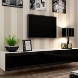 Cama Televizní stolek VIGO  - bílá/černá