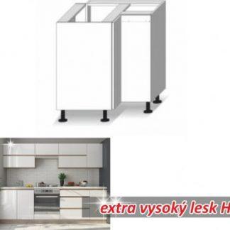 Tempo Kondela Kuchyňská skříňka LINE WHITE DR L + kupón KONDELA10 na okamžitou slevu 3% (kupón uplatníte v košíku)
