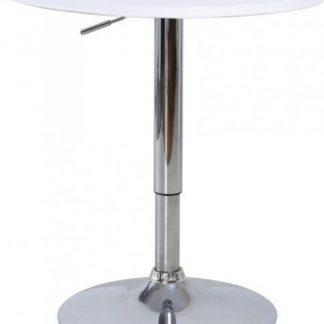 Tempo Kondela Barový stůl BRANY - chrom / bílá + kupón KONDELA10 na okamžitou slevu 3% (kupón uplatníte v košíku)