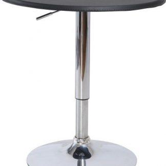 Tempo Kondela Barový stůl BRANY - chrom / černá + kupón KONDELA10 na okamžitou slevu 3% (kupón uplatníte v košíku)