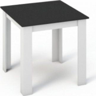 Tempo Kondela Jídelní stůl KRAZ x - Bílá / Černá + kupón KONDELA10 na okamžitou slevu 3% (kupón uplatníte v košíku)