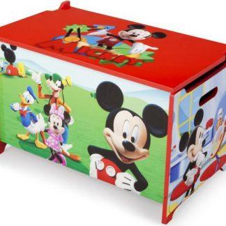 Forclaire Dětská dřevěná truhla Mickey Mouse