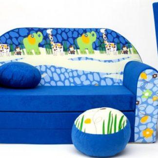 Forclaire Dětská pohovka Blue Jungle 2