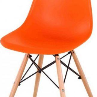 Tempo Kondela Židle CINKLA NEW - oranžová + buk + kupón KONDELA10 na okamžitou slevu 3% (kupón uplatníte v košíku)