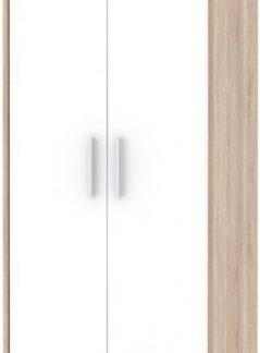 Tempo Kondela Kancelářská skříň JOHAN 05 - dub sonoma/bílá + kupón KONDELA10 na okamžitou slevu 3% (kupón uplatníte v košíku)
