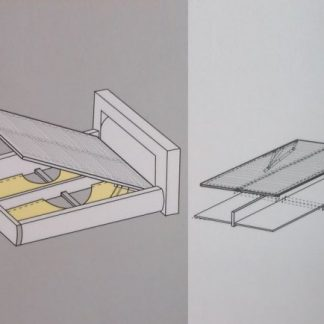 BRW Úložný prostor k posteli 120 x 200