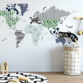 Forclaire Dekorace na zeď - Mapa 4 180x107 cm